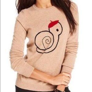Maison Jules Cashmere Snail with Beret Sweater